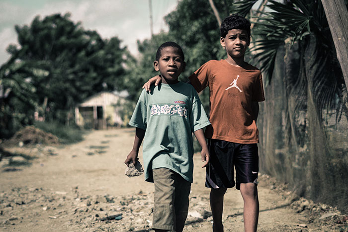 Two boys in Dominican Replubic